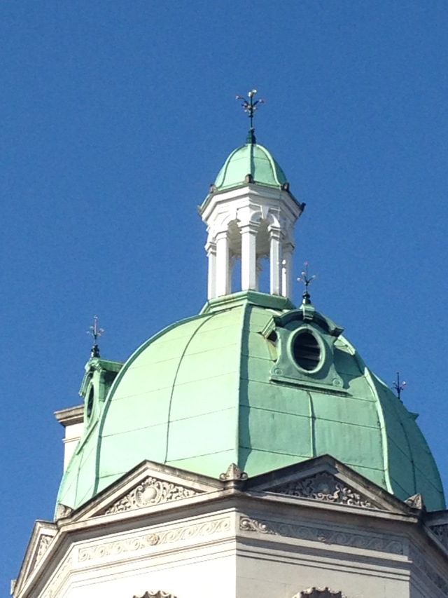 One of four domes at the corner of the main meat market