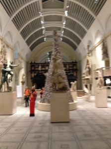 The medieval gallery at the Victoria and Albert Museum